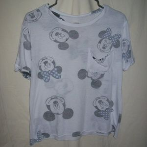 Disney Mickey & Minnie Juniors' Graphic Pocket Tee